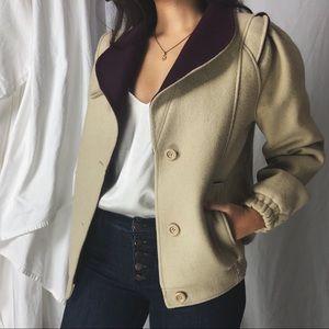 VINTAGE/ wool bomber jacket